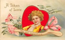 val300461 - A Token of Love, Valentines Day Postcard