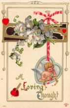 val300497 - Loving Thought Valentines Day Postcard