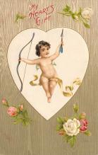 val300515 - My Hearts Gift St. Valentines Day Postcard