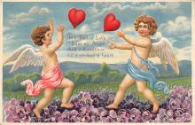 val300521 - The Ball of Love Valentines Day Postcard