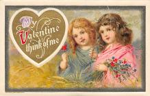 val300685 - My Valentine think of me Postcard