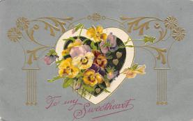 val300833 - John Winsch Publishing Silk Finish Valentines Day Postcard