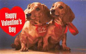 val300841 - Dachshund Valentines Day Postcard