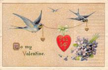 val310009 - John Winsch Publishing St. Valentines Day Postcard