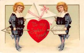 val310023 - International Art Pub. Co. Artist Ellen Clapsaddle Old Valentines Day Post Card