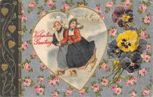 val310025 - John Winsch Publishing Silk Heart Old Valentines Day Post Card