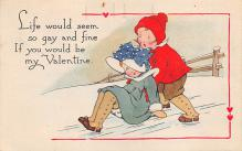 val310033 - Gibson Lines Publishing Old Valentines Day Post Card