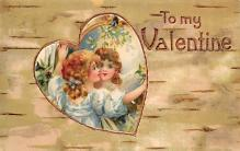 val310037 - Old Valentines Day Post Card