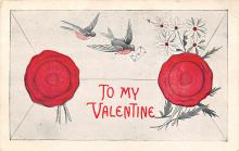 val310041 - Old Valentines Day Post Card