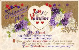 val310083 - Vintage Valentines Day Postcard