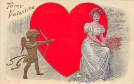 val310087 - Vintage Valentines Day Postcard