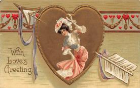 val310095 - International Art Pub. Co. Vintage Valentines Day Postcard