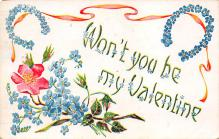 val310107 - Antique Valentines Day Postcard