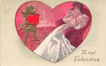 val310109 - Antique Valentines Day Postcard