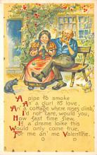 val310113 - Reproduction Antique Valentines Day Postcard