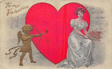 val310117 - Artist Fred C. Lounsbury Antique Valentines Day Postcard