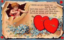 val310119 - Antique Valentines Day Postcard