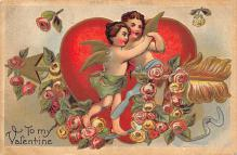 val310171 - Antique Valentines Day Postcard