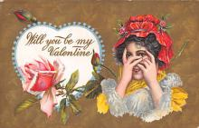val310189 - Antique Valentines Day Postcard