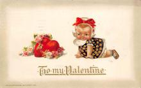 val310193 - Artist Jason Freixas Antique Valentines Day Postcard