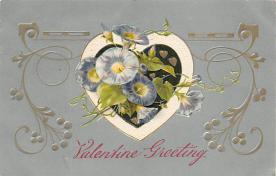val310277 - John Winsch Publishing Silk Material St. Valentines Day Postcard