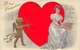 val310337 - Artist Fred C. Lounsbury St. Valentines Day Postcard