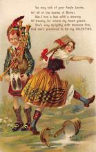 val310409 - Artist M. Greiner, Bagpiper St. Valentines Day Postcard