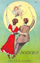 val310491 - PCK Series, Diabolo an old game St. Valentines Day Postcard