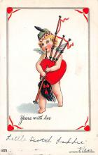 val310555 - Bagpiper St. Valentines Day Postcard