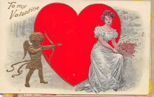 val310605 - Artist Fred C. Lounsbury Valentines Day Postcard