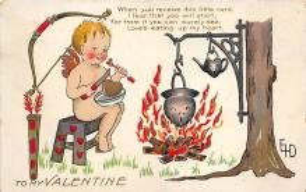 val310621 - Artist Dewees Valentines Day Postcard