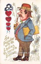 vin001009 - Vinegar Valentine Post Cards, Old Vintage Antique Postcards