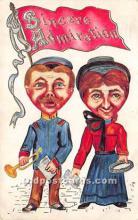 vin001020 - Vinegar Valentine Post Cards, Old Vintage Antique Postcards