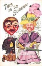 vin001025 - Vinegar Valentine Post Cards, Old Vintage Antique Postcards