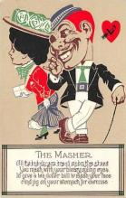 vin001040 - Vinegar Valentine Post Cards, Old Vintage Antique Postcards