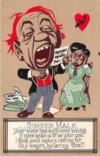 vin001042 - Vinegar Valentine Post Cards, Old Vintage Antique Postcards