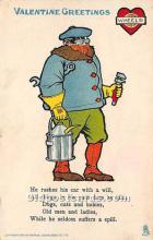 vin001048 - Vinegar Valentine Post Cards, Old Vintage Antique Postcards