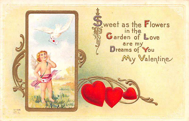 Valentines Day Postcards  - Old Antique Post Cards for sale