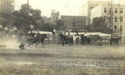 wes000348 - Rodeo Scene Western Cowboy, Cowgirl Postcard Postcards
