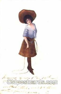 wes001354 - Western, Cowboy, Cowgirl, Postcard Postcards