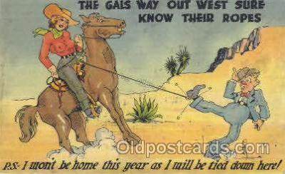 wes002214 - Cowgirl Western Cowboy, Cowgirl Postcard Postcards