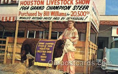 wes002242 - Houston Livestock Show Western Cowboy, Cowgirl Postcard Postcards