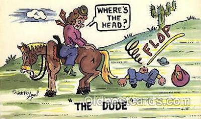 wes002265 - Western Cowboy, Cowgirl Postcard Postcards