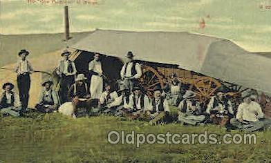 wes002292 - Cowboys at Dinner Western Cowboy, Cowgirl Postcard Postcards