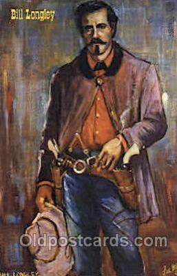 wes002443 - Bill Longley Western Cowboy, Cowgirl Postcard Postcards