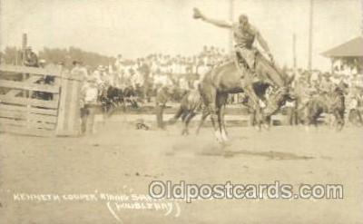 wes002506 - Kenneth Cooper Western Cowboy, Cowgirl Postcard Postcards