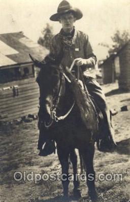 wes002537 - Western Cowboy, Cowgirl Postcard Postcards
