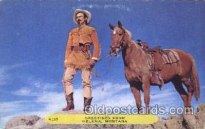 wes002611 - Helena, Montana Western Cowboy, Cowgirl Postcard Postcards
