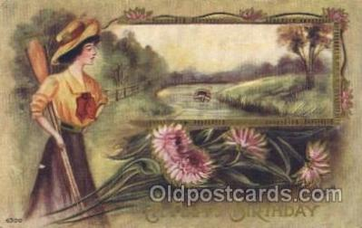 wis001053 - Woman Rowing Postcard Post Cards