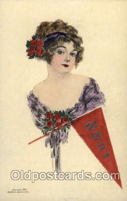 wom001053 - Woman Postcard Postcards